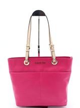 NWT MICHAEL Michael Kors Bedford Pink Leather Pocket Tote Shoulder Bag New - $128.00