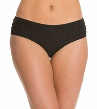 Coco Reef Bikini Bottom Sz S Black Side Shirred Swimwear Swim Bottoms U4... - $19.71