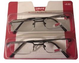 Levi's Mens Dark Brown Metal Rimless 2 Pack Reading Glass 2.0 Power, LSR03 - $22.49