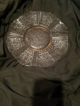 Pink American Sweetheart Depression Glass Salver Cake Plate Macbeth- Evans - $12.29