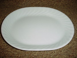 Corelle Enhancements White 12.25 Inch Oval Serving Platter New Free Usa Shipping - $28.04