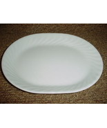 CORELLE ENHANCEMENTS WHITE 12.25 INCH OVAL SERVING PLATTER NEW FREE USA ... - $28.04