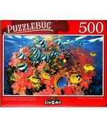 Colorful Fish Swimming Around Pink Coral - 500 Pieces Jigsaw Puzzle for ... - $12.86
