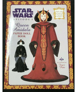 1999 Star Wars Episode 1 Queen Amidala Padme Paper Doll Book Lucasfilm LTD - £7.56 GBP