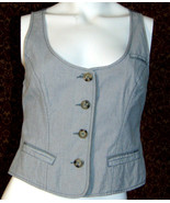 AMERICAN EAGLE OUTFITTERS gray cotton vest S/P (T49-02B8G) - $9.88