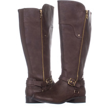 Guess 5648 Knee High Block Heel Boots 465, Medium Brown, 8.5 W US - $46.07