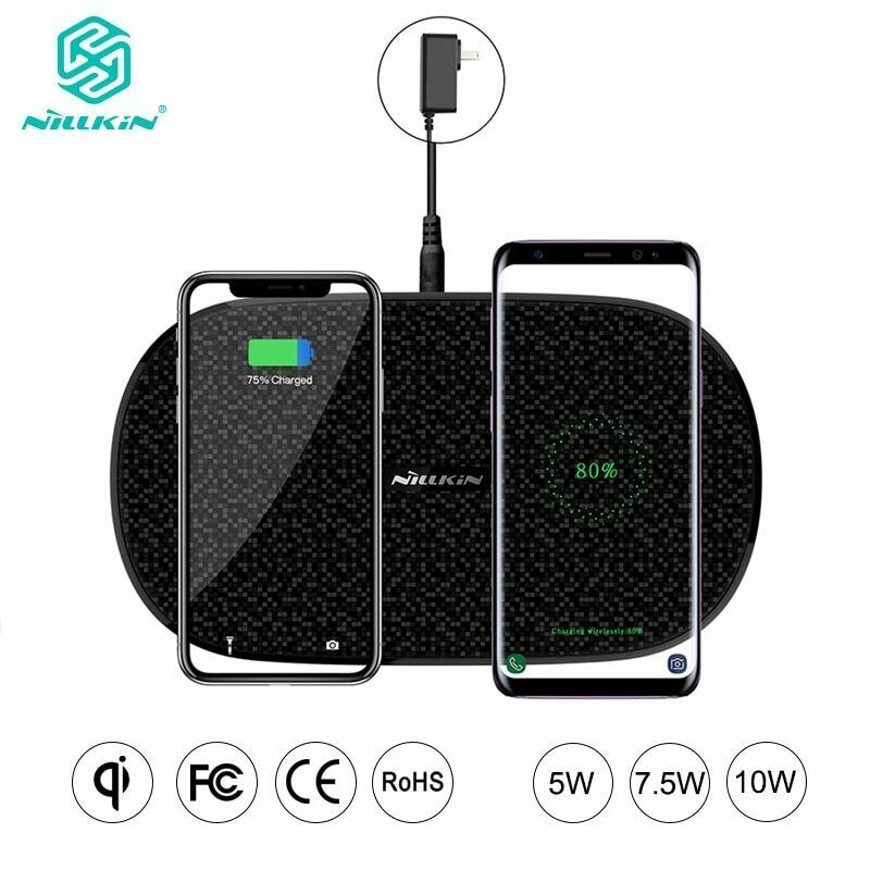 Fast Dual 2 In 1 Wireless Charger Xiaomi 9 Mix 2S Qi Pad Samsung Galaxy S10 5G