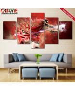 Michael Jordan Wall Art Nike Painting Print Poster Air Jordan Canvas Bul... - $74.99+