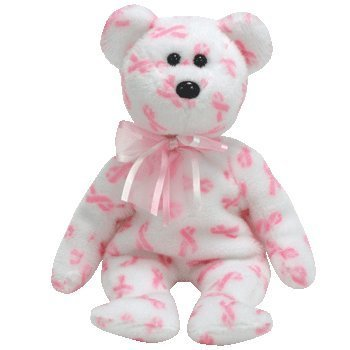 TY Beanie Baby - GIVING the Bear (Breast Cancer Awareness Bear)
