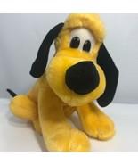 "Disney Vintage Pluto Dog 9"" Plush Sitting Walt Disney Productions Korea - $24.74"