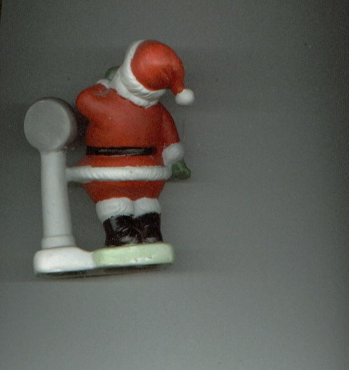 SANTA CLAUS Christmas figurine SANTA WEIGHS IN made in Korea