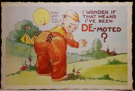 I've Been De-Moted Walter Wellman  Military Linen Comic Dexter Press G-VG - $3.50