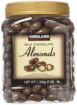 Kirkland Signature Milk Chocolate Almonds 2 Pack JAR - $44.00