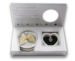 Pearlina Cage Cultured Pearl Oyster Necklace Set Rhodium Plated Heart Lo... - $27.83