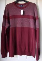 New Gap Men's Birdseye Crewneck Sweater Burgundy Variety Sizes - $29.99