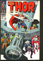 THOR 156 JACK KIRBY STAN LEE Marvel Comics 1968 VF Silver Age nice - $64.00