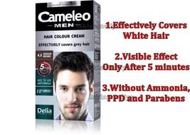 Delia Cameleo  Hair Color Cream for MAN 4.0 Medium Brown Ammonia - Free 30ml - $9.50