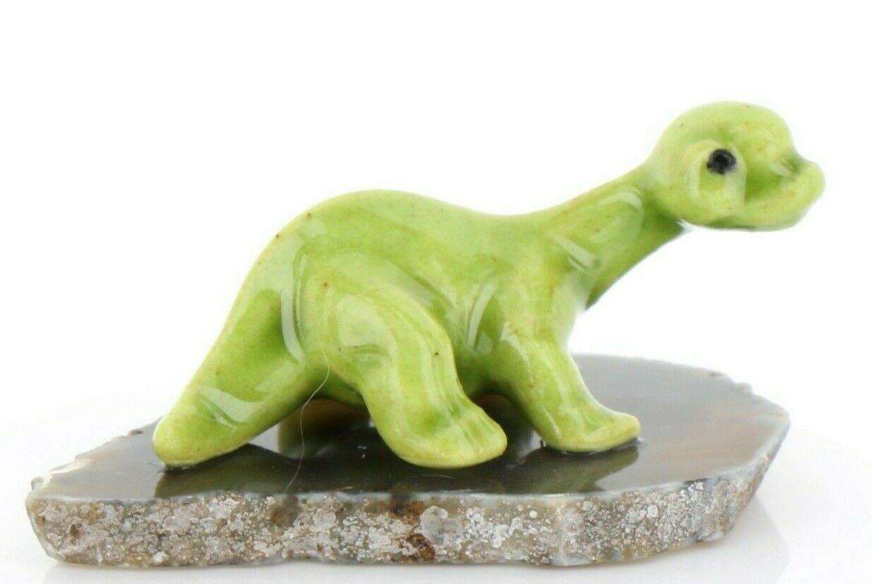 Hagen Renaker Miniature Dinosaur Diplodocus Baby on Base Stepping Stones #2726