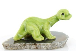 Hagen Renaker Miniature Dinosaur Diplodocus Baby on Base Stepping Stones #2726