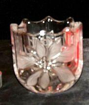 Milkasa Festive Poinsettia Votive Candle Holder AA19-1608 Vintage image 5