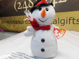 Snowball, the TY Beanie Babies Snowman, PVC,no stamp Double tush tag! Korean - $8.99