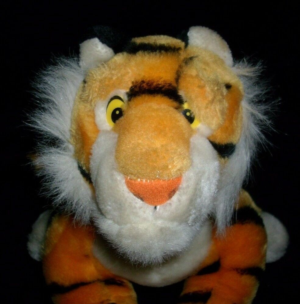"18"" VINTAGE DISNEY ALADDIN RAJAH ORANGE BLACK TIGER STUFFED ANIMAL PLUSH TOY BIG image 2"