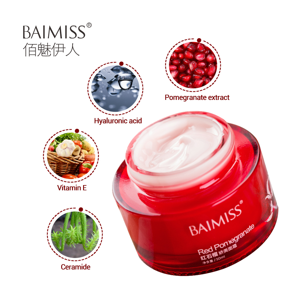 Baimiss Red Pomegranate Face Cream And 50 Similar Items Rorec Natural Skin Care Moisturizer Refreshing Nourishing A
