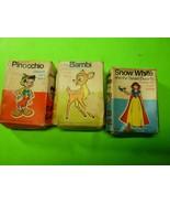 Vintage Rare Disney Snow White, Pinocchio and Bambi Mini Card Games - $19.79