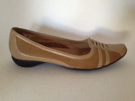 Kenneth Cole Reaction Light Brown Mesh and Leather Sporty Flat Slip On S... - $19.25
