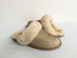 Ugg Scuffette Ii Sparkle Gold Wool Shearling Lined Slippers Us 11 / Eu 42 / Uk 9 - $73.87