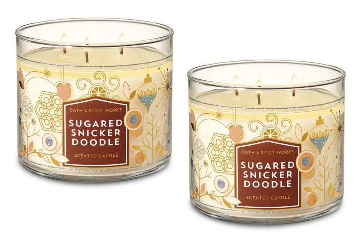 Primary image for 2 Bath & Body Works Sugared Snickerdoodle 3 Wick Scented Candle 14.5 oz
