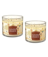 2 Bath & Body Works Sugared Snickerdoodle 3 Wick Scented Candle 14.5 oz - $49.99