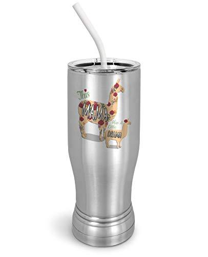 Primary image for PixiDoodle Mother's Day Mama Llama Pilsner Tumbler with Spill-Resistant Slider L