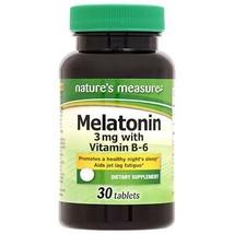 Natures Measure (Melatonin Dietary Supplement, 30 Tablets) - $8.99