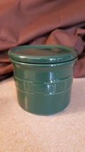 Longaberger Woven Traditions IVY GREEN 1 PINT SALT CROCK With Coaster Lid - $18.00