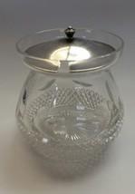American Brilliant Period hand Cut Glass Pair point jar sterling lid - $31.44
