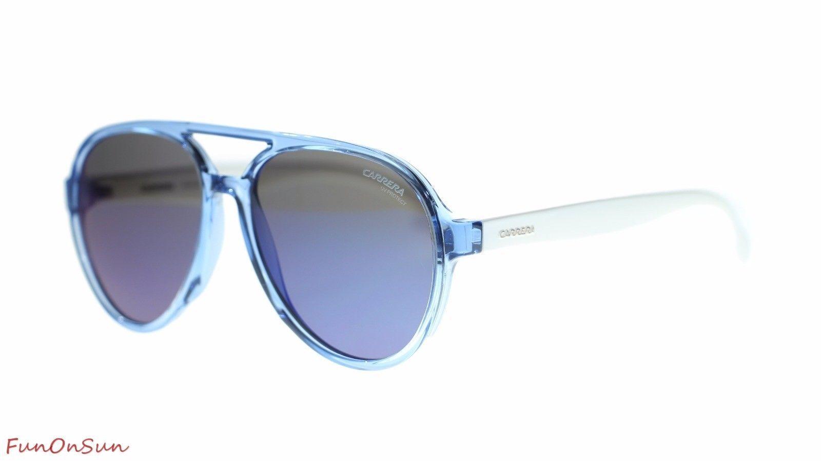 acbe2b2ba9d9f9 Carrerino 22 S 0PJP Aviator Kids Sunglasses Blue Blue Sky Mirror Lens 51mm  -  82.45