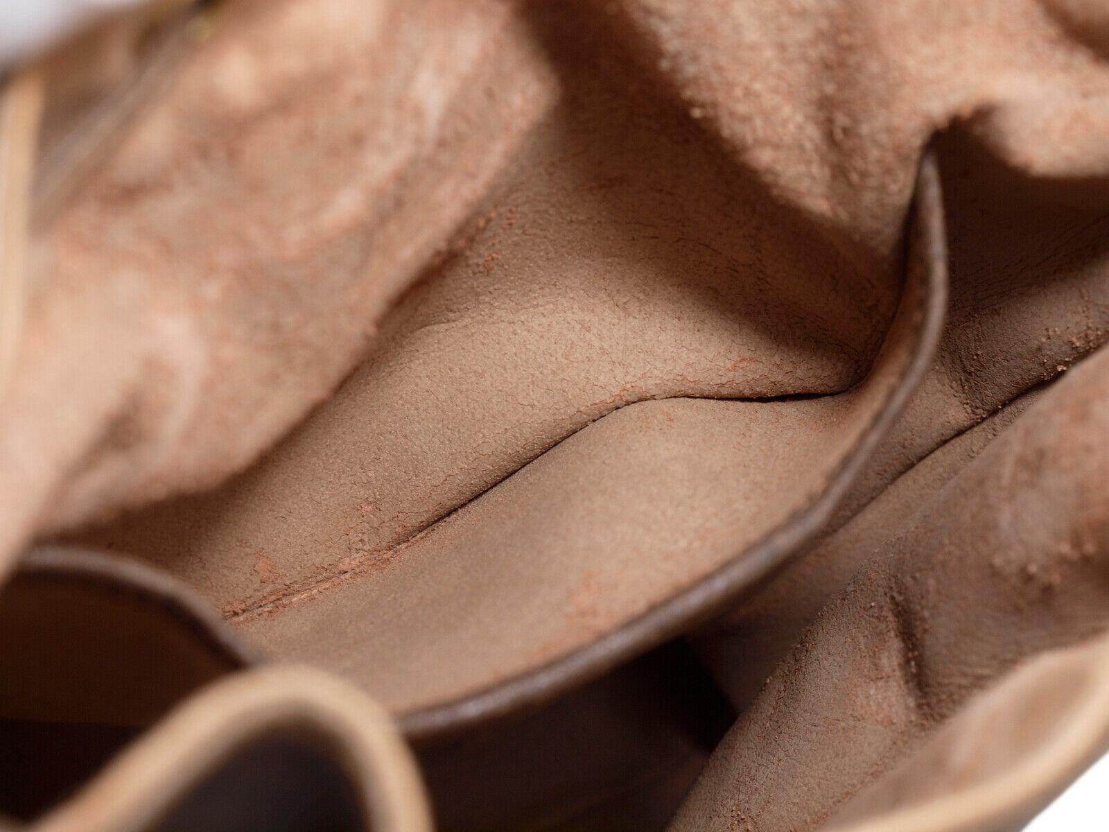 GUCCI GG Web PVC Canvas Leather Browns Drawstring Shoulder Bag GS2171 image 12