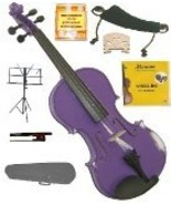 1/8 Size Purple Violin,Case,Bow,Strings,Rosin,2Bridges,Tuner,Shoulder Rest,Stand - $50.00
