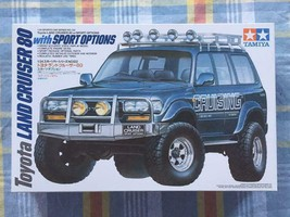 Discontinued plastic model Tamiya 1/24 Toyota Land Cruiser 80 w Sports O... - $166.02