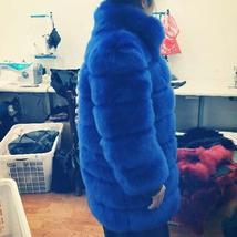 Women's Winter Luxury Fashion Faux Fur Shaggy Thicken Warm Coat image 4
