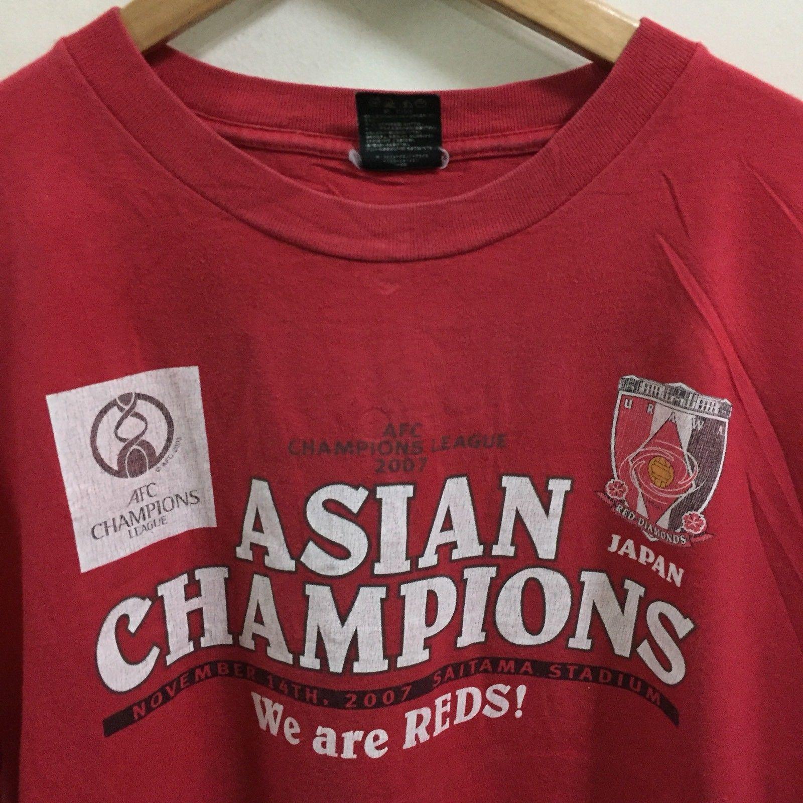 J League Urawa Reds Asian Champion Soccer Football T-Shirt Size L Red, Japan JFA image 5