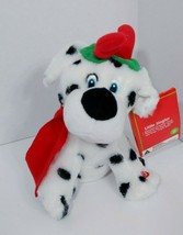 Dalmatian Christmas plush animated singing sings barks moves Jingle Bell... - $12.86