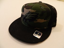 M1 New REEBOK Philadelphia Eagles Army Camo Camoflage Fitted Men's Hat Sizes - $29.97