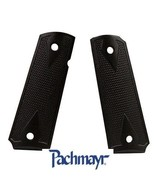 #  62050 Pachmayr 1191 Black Aluminum Checkered Grips # 62050 New! - $43.55