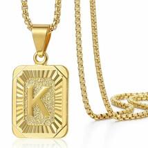 Women Gold Necklace Initials Pendant Chain Jewelry Fashion Letter Neckla... - $6.57+