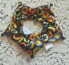 Dog Scrunchie Size O/S Halloween Style green black and orange - $5.18
