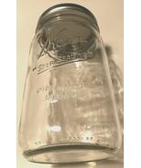 Lot of 8 Kerr Clear Self Sealing Mason Wide Mouth Quart Canning Jars Lid... - $59.39