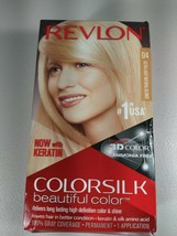 Revlon Colorsilk Permanent Hair Dye Kera No Ammonia 4 Ultra Light Natura... - $7.64