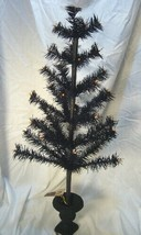 Bethany Lowe Black Halloween Feather Tree 26 inch in Urn image 2